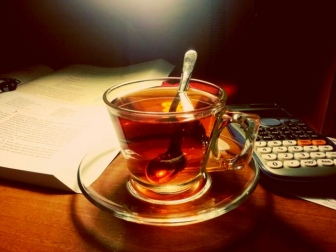 "(Raskol Mihin, ""Always tea makes me feel relax and happy #studying"" from Flicker Creative Commons)"