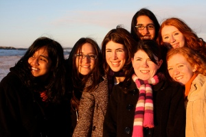 """Smiling at the sunset (friends)"" by Sarah Ross, Flickr Creative Commons"