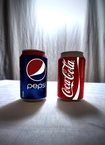 """The Eternal Struggle of Coca Cola & Pepsi Cola"" by Simon & His Camera Flickr Creative Commons."