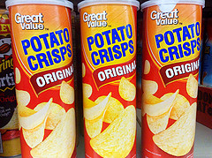 """Pringles Store Brand ""Great Value"" Potato Crisps from Wal-Mart"" by Mike Mozart. Flickr Creative Commons."